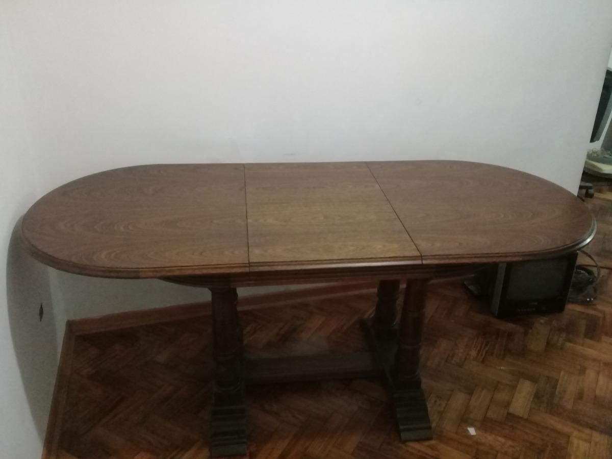 Mesa De Comedor Roble Estilo Inglés Ovalada Extensible - $ 10.900,00 ...