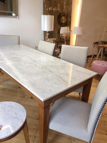 mesa de comedor san luis marmol de carrara