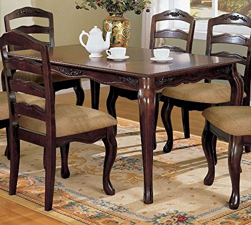 mesa de comedor townsville en acabado nogal oscuro por muebl