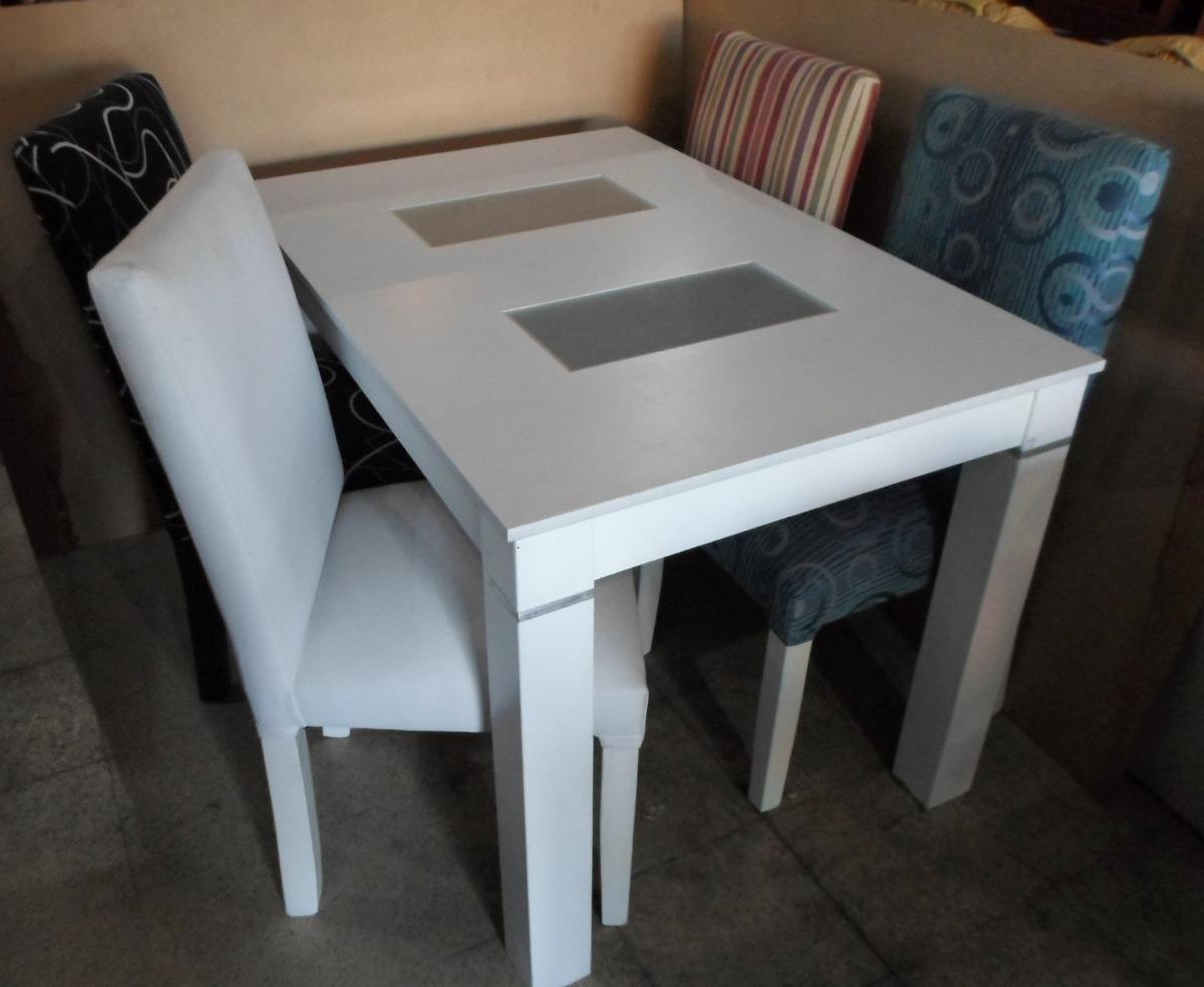Mesa De Comedor Trampa Con Vidrios Extensible De 1 20 A 1 60  # Muebles Faciles Liniers