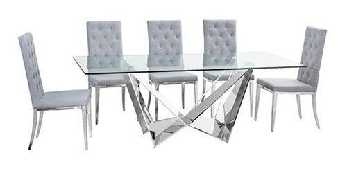 mesa de comedor unico chico - acero këssa muebles