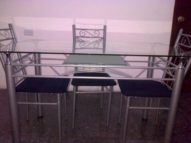 Mesa de comedor vidrio para 4 personas u s 400 00 en - Mesa comedor vidrio ...