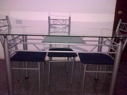 mesa de comedor vidrio para 6personas