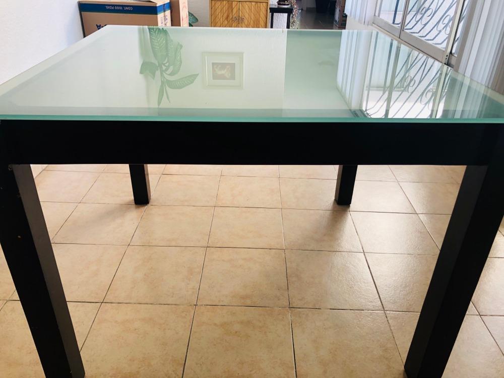 Mesa De Comedor Vidrio Templado - $ 2,800.00 en Mercado Libre