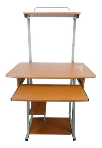 mesa de computadora y laptop 4 niveles x tech haya marron