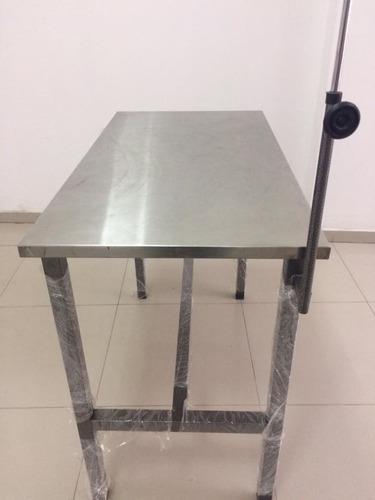mesa de consulta veterinaria standard tablero de acero