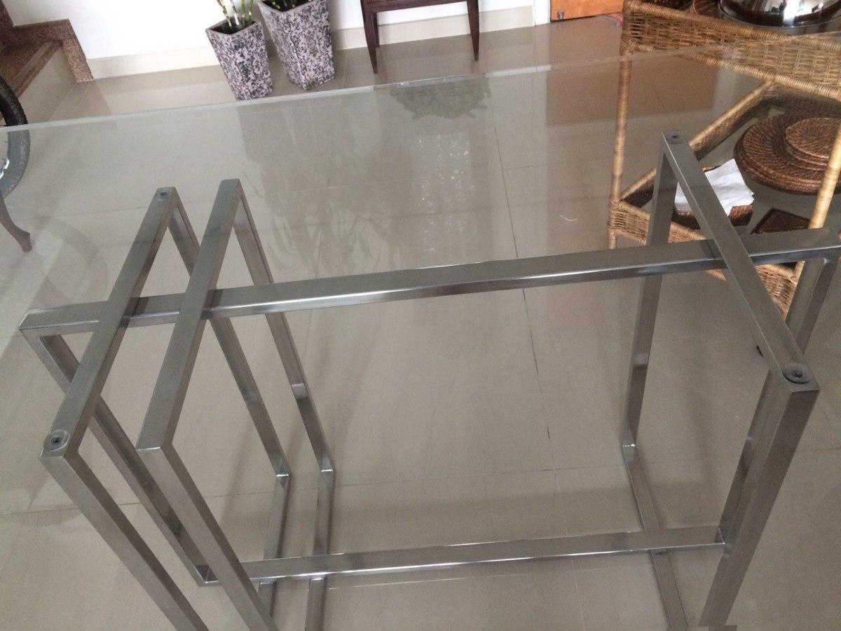 Mesa de cozinha ou jantar retangular em a o inox 304 r Fabrica de bases para mesas