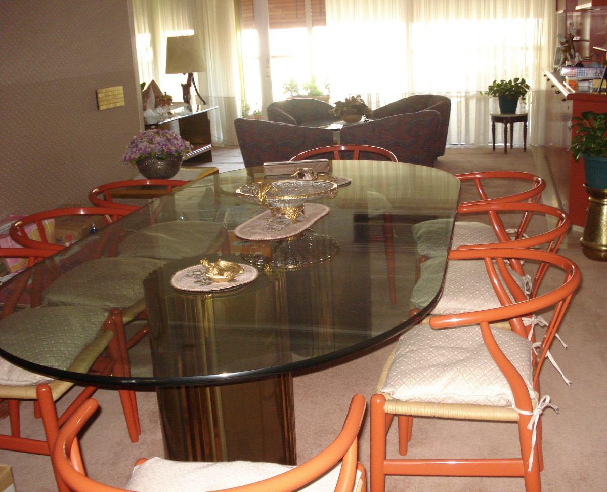 Mesas de vidrio templado awesome mesa de vidrio templado for Comedor ovalado extensible