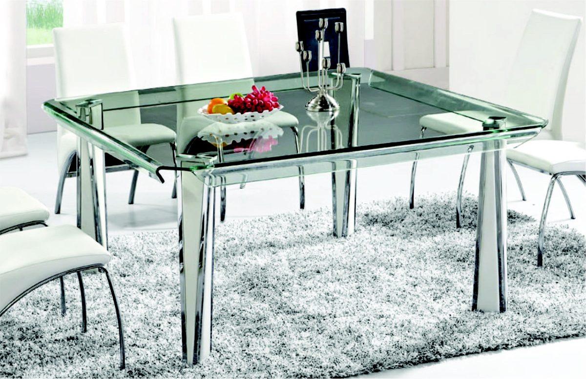 Mesa de cristal templado twist cuadrada 11 en - Cristal para mesa ...