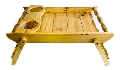 mesa de desayuno madera pino torneada 48x30 cm