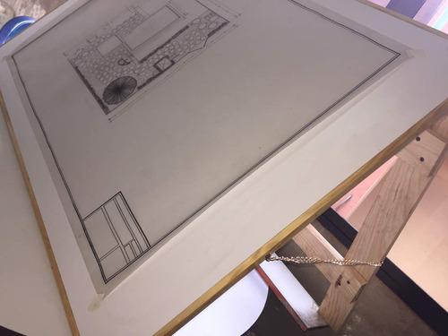 mesa de dibujo retractil profesional