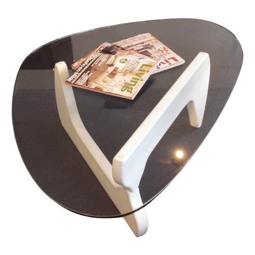mesa de diseño isamu noguchi tapa 1.00 x 0.70 base laqueada