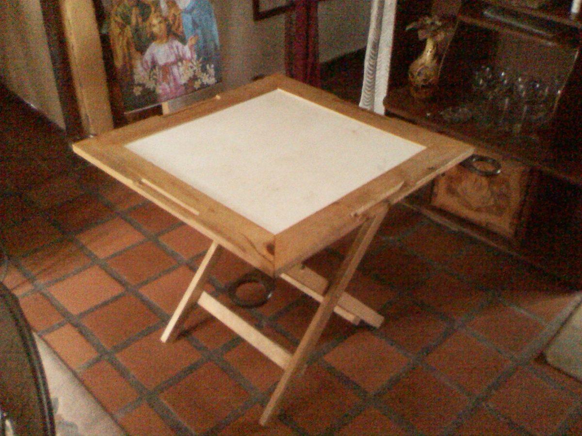 Mesa de domino en madera y formica bs en for Formica madera