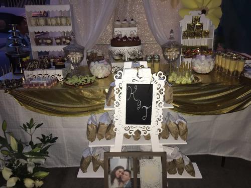 mesa de dulce, postre y salado