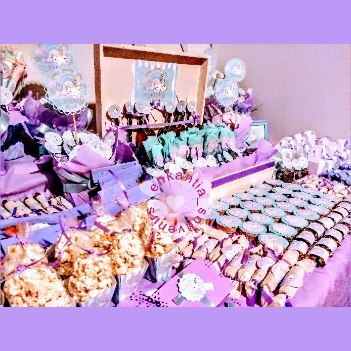 Mesa de dulces 200 personas bautizo comunion boda xv - Preparar mesa dulce para comunion ...