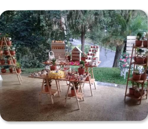 mesa de dulces, alquiler mobiliario pallet candy bar