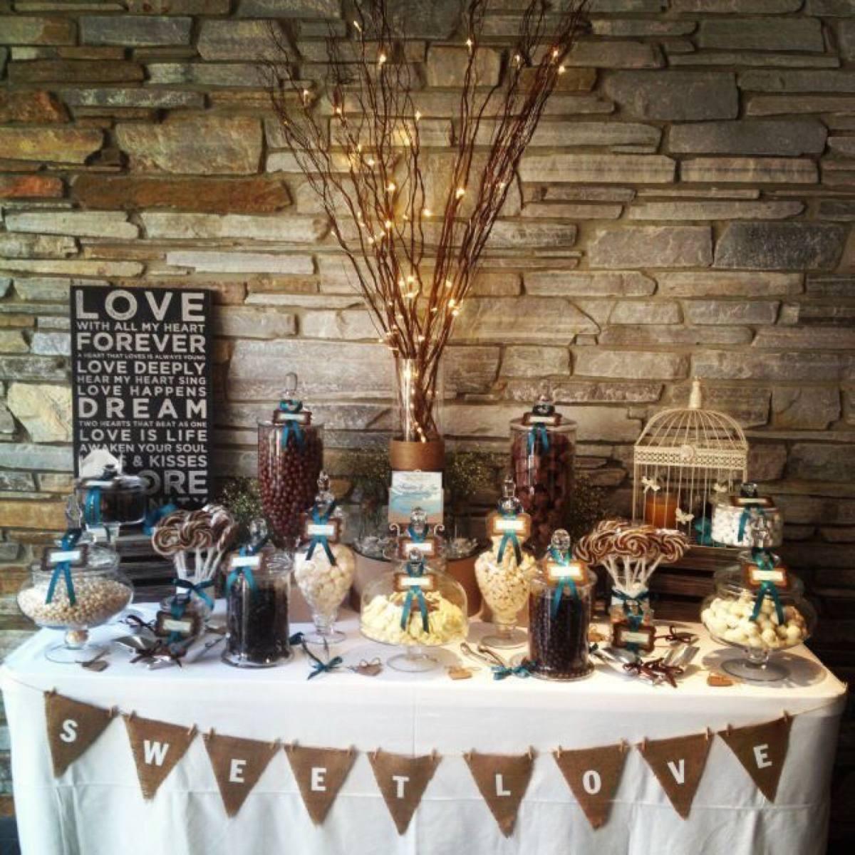Mesa de dulces boda para 30 personas 2 en for Mesa de dulces para boda