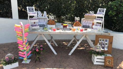 mesa de dulces candy bar fiesta boda xv años festejo