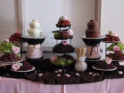 chocolate fountain wedding cake mesa de dulces con chocolate y chamoy 50 personas 12702