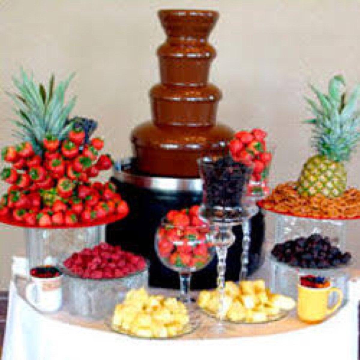 Mesa de dulces fruta postres bodas fiestas xv a os for Decoracion para mesa dulce