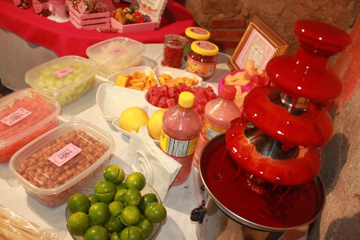 Mesa de dulces frutas postres candy bar en slp - Adornos de frutas para mesas ...