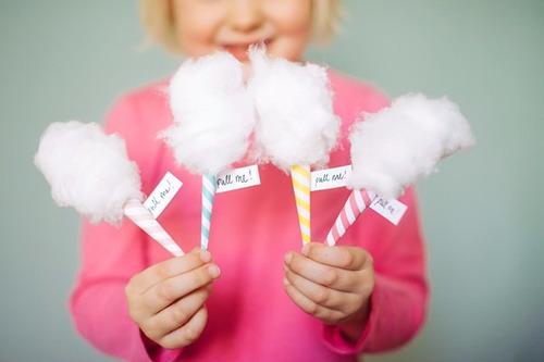 mesa de dulces golosinas mini algodón de azúcar