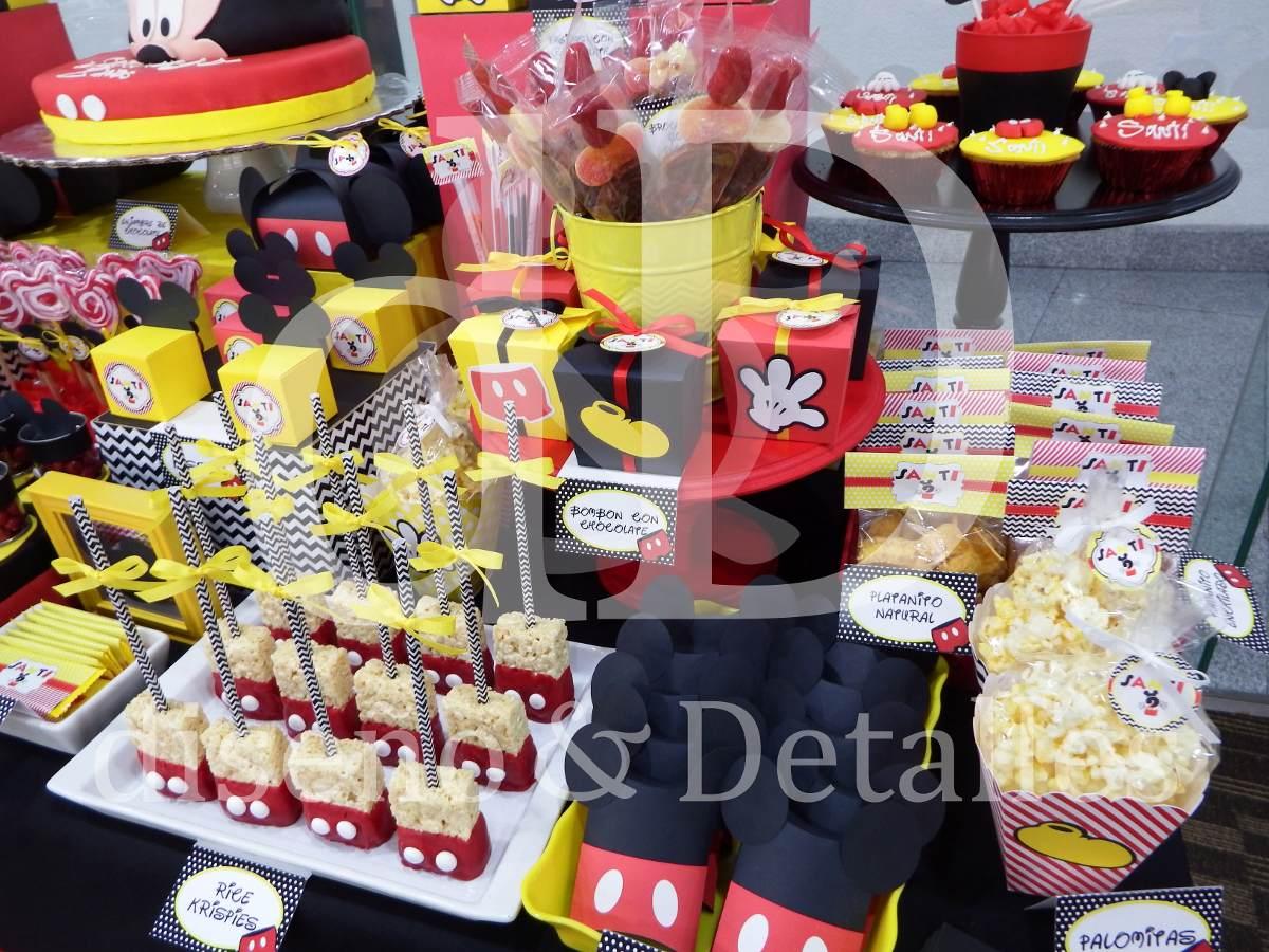 Mesa de dulces infantil tem tica mickey mouse - Fiesta infantil tematica ...