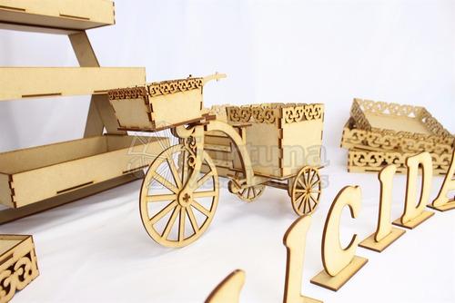 mesa de dulces para boda kit candy bar para cupcakes mdf