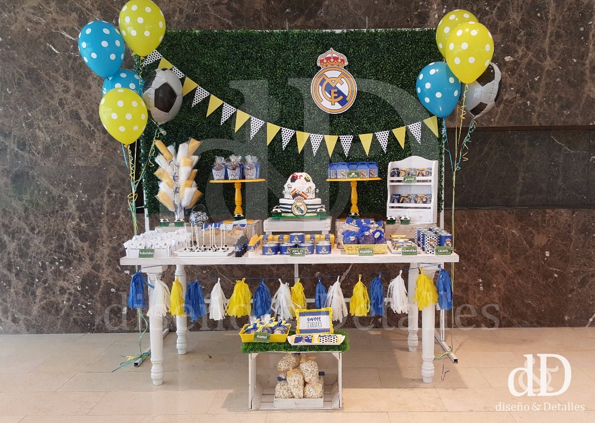 Mesa de dulces tem tica infantil real madrid futbol soccer en mercado libre - Decoracion madrid ...