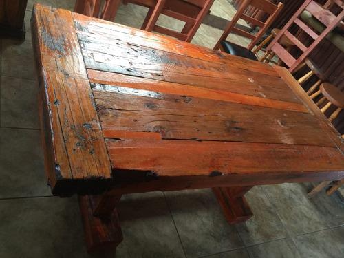 mesa de durmientes ideal para quincho