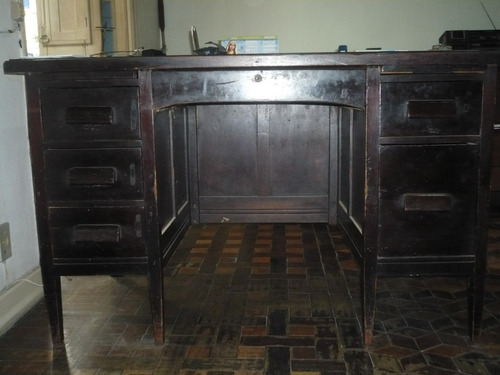 mesa de escritorio antiga madeira de lei (decada de 40)