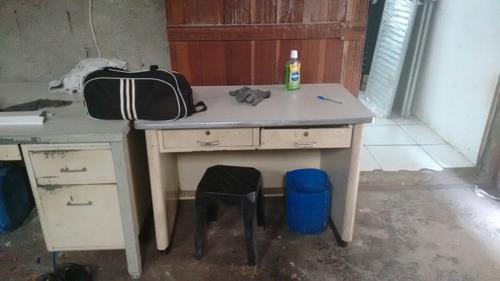 mesa de escritório em aço fiel anos 70