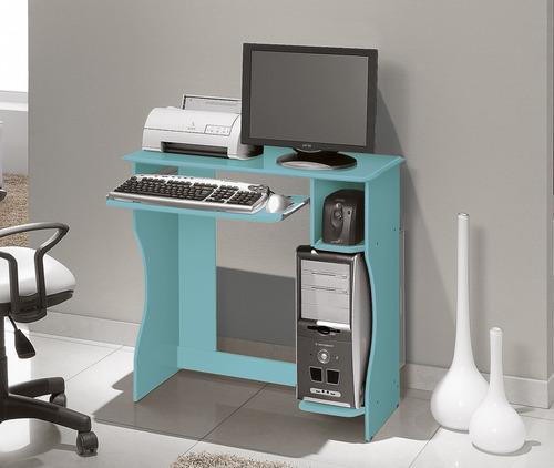 mesa de estudo notebook e computador pequena