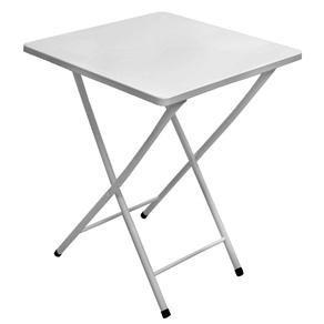 mesa de ferro dobrável branca metalmix bar restaurante festa
