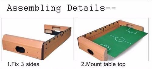 mesa de fulbito de madera !!!