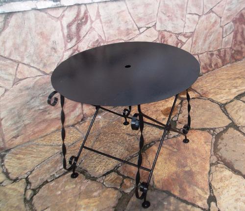 mesa de hierro para interior/exterior