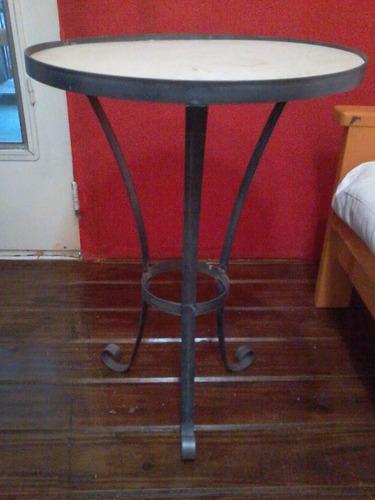 mesa de hierro redonda para mosaiquismo de 50 cm x 70