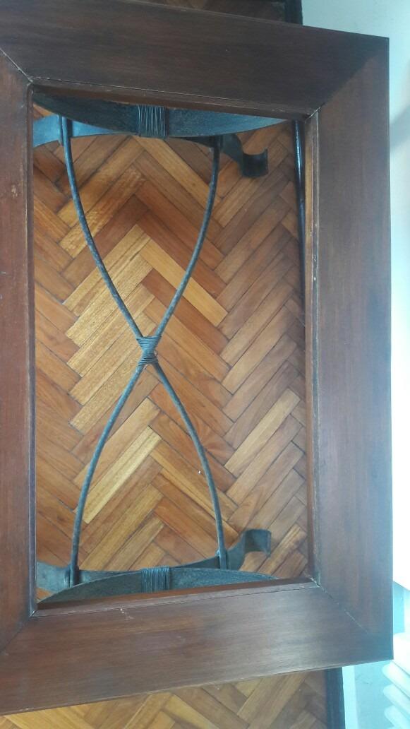 Mesa de hierro y madera en mercado libre for Mesas de hierro y madera