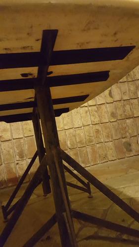 mesa de hierro y marmol rectangular