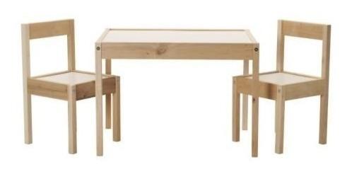 mesa de ikea infantil y 2 sillas de muebles (1) p/niños cdmx