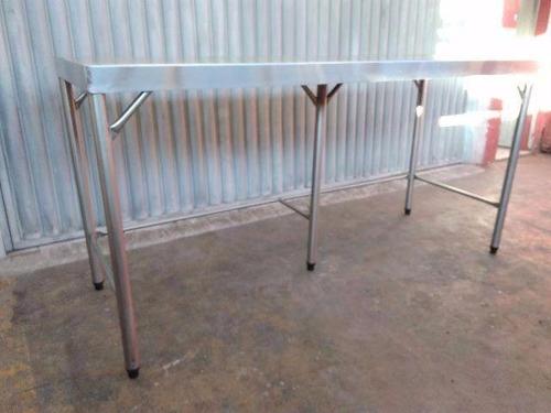 mesa de inox - bancada de inox - mesa em aço inoxidáve