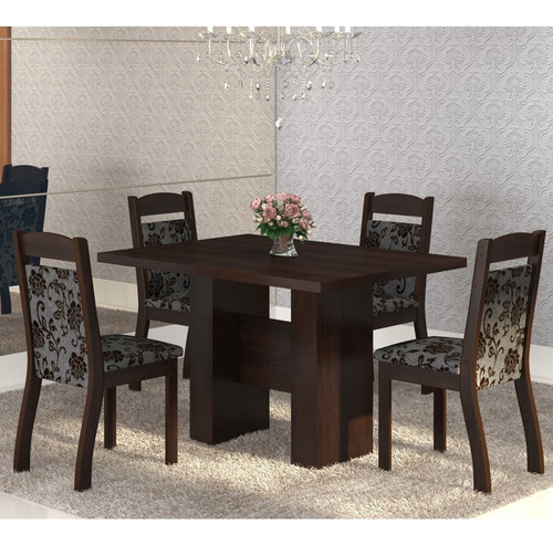 mesa de jantar 4 lugares street ameixa/cobre - mobilarte
