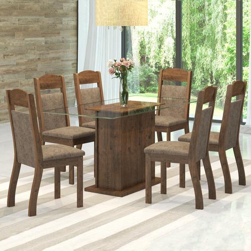 mesa de jantar 6 lugares kim zara - viero móveis