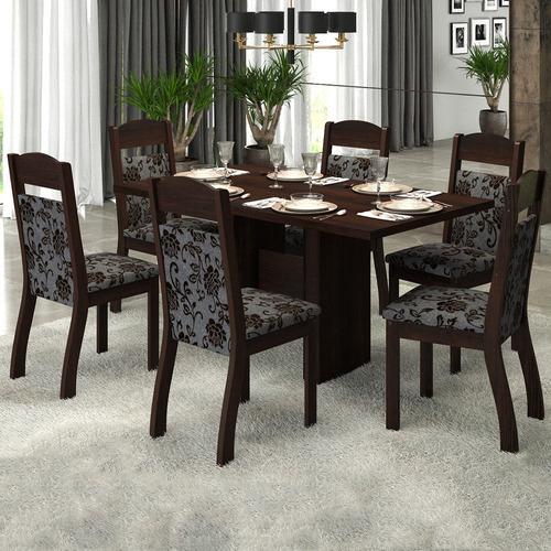 mesa de jantar 6 lugares rafa zara - viero móveis