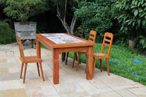 mesa de jantar de madeira de demolição 2.5