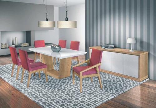 mesa de jantar elegance 1,80mx0,90m - móveis rafana x