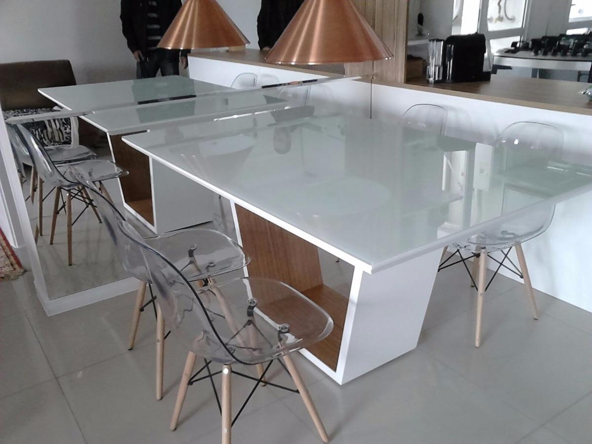Sala De Jantar Mesa Com Vidro ~ Mesa De Jantar Elegance Com Vidro 4mm 1,80m X 1,00m  R$ 2290,00 em