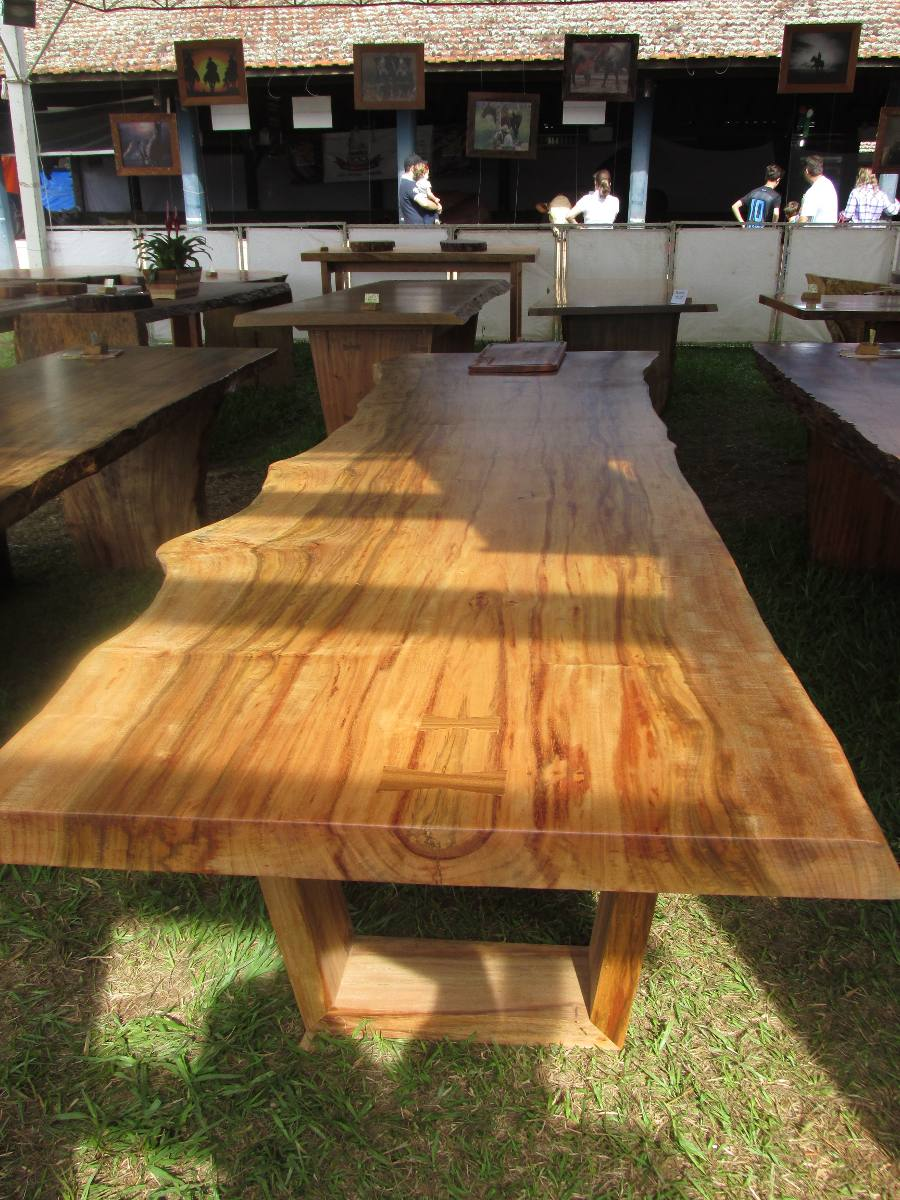 Mesa de jantar grande mesa gourmet mesa r stica r 5 for Mesas rusticas grandes