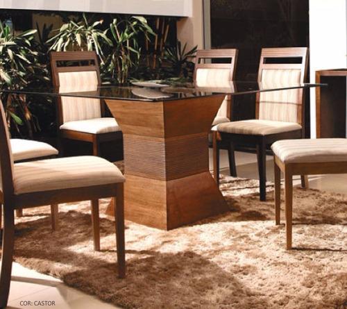 mesa de jantar istambul tampo 1,4mx1,4mx10mm - mobillare xx