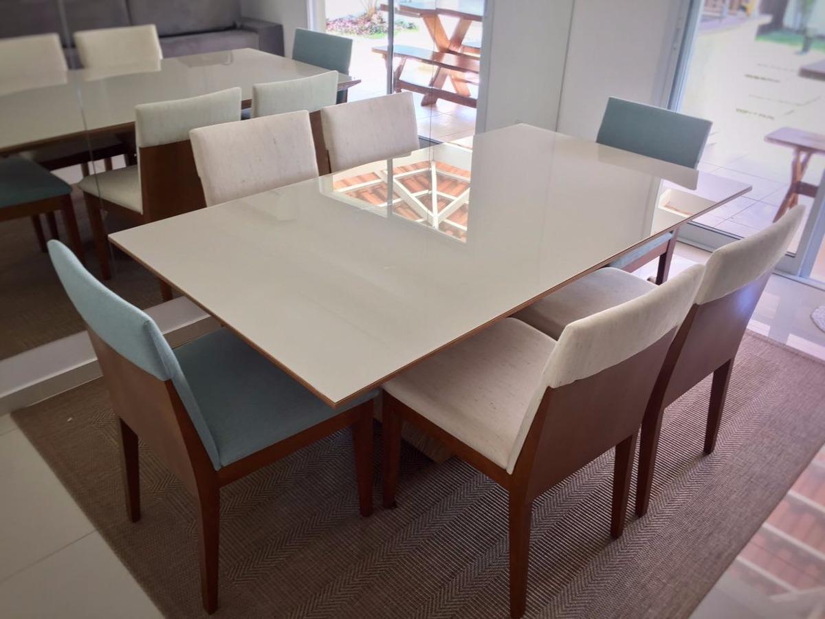 Adesivo De Parede Grande ~ Mesa De Jantar Madeira E Vidro Com 6 Cadeiras Sem Juros R$ 3 890,00 em Mercado Livre